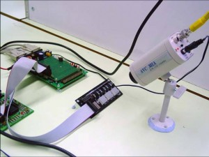 Example of experiment apparatus monitored by a camera